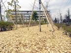 ウッドチップ施工例 都営住宅