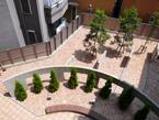 ウッドチップ施工例 マンション・中庭
