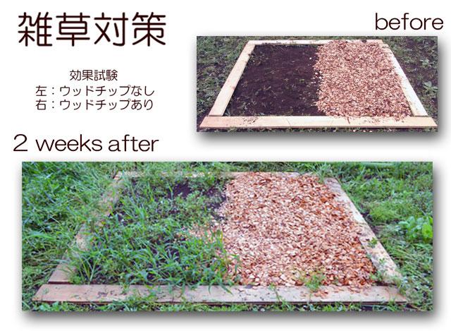 ウッドチップ用途・雑草対策